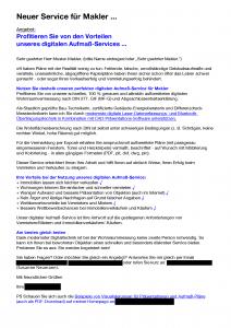 Texter Arbeitsprobe Mail, Email, Newsletter