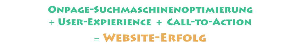 Onpage-Suchmaschinenoptimierung + Webseitenoptimierung = Website-Erfolg