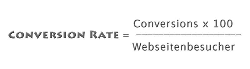 Formel der Conversion Rate