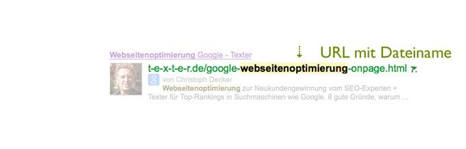 URL suchmaschinenoptimieren